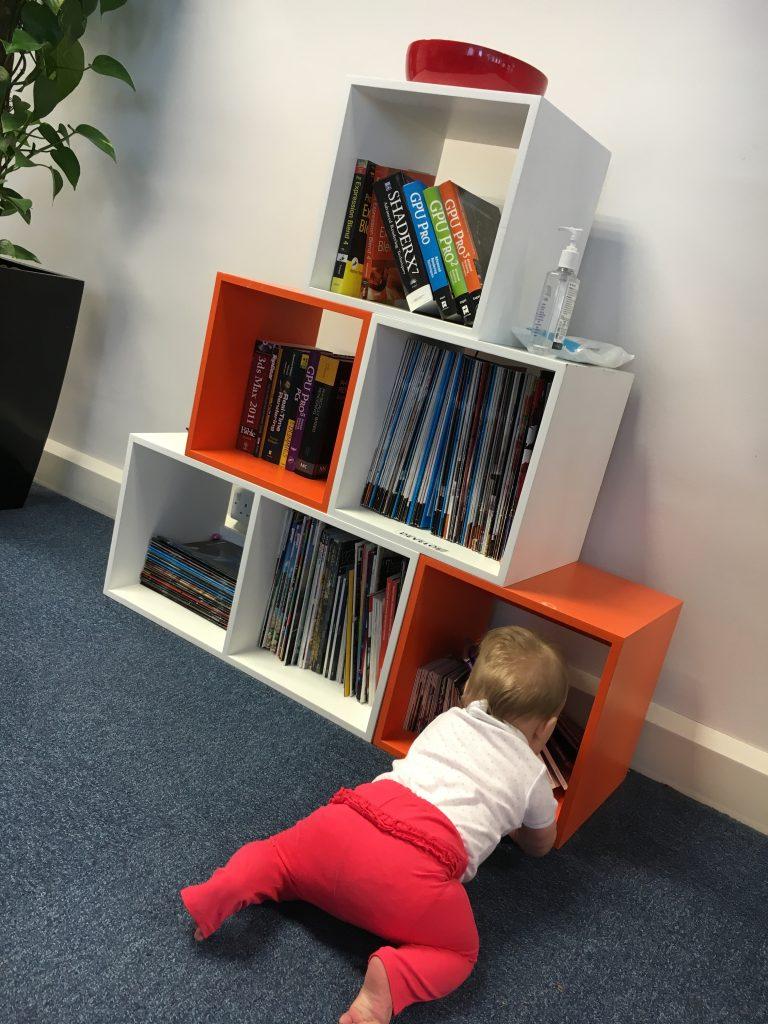 baby, bookcase www.mumsymidwife.com, stickyfingers