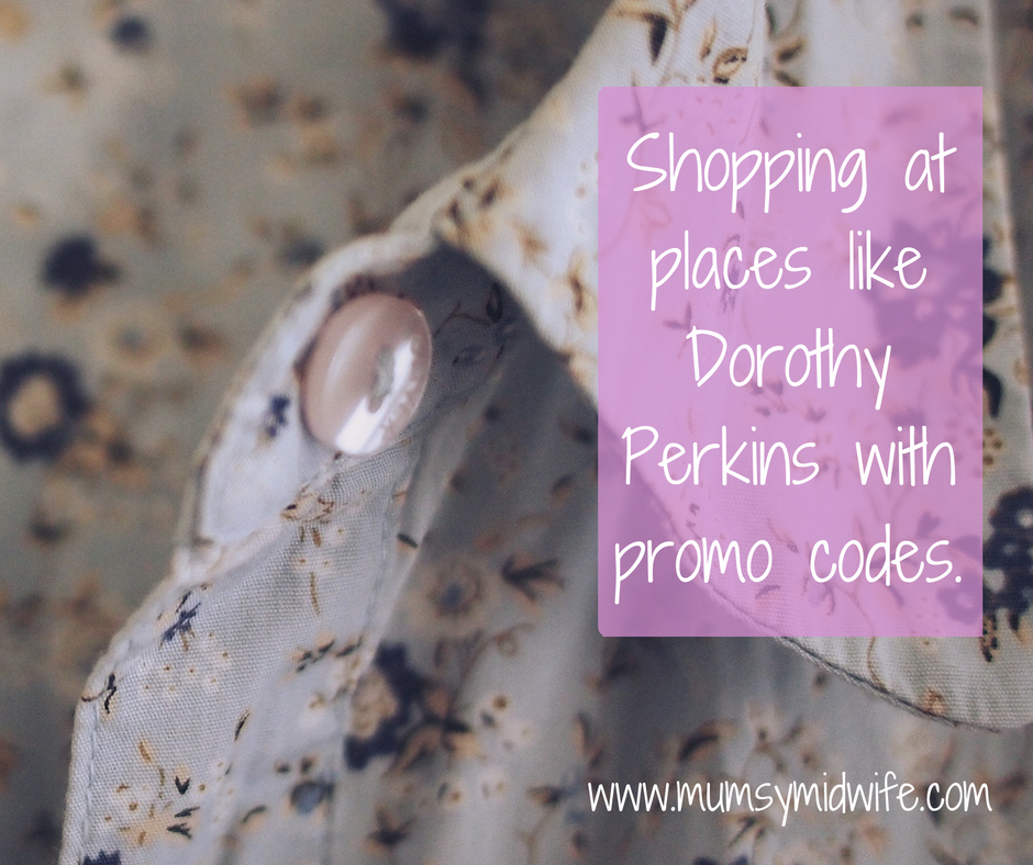 Shopping at places like Dorothy Perkins with promo codes.