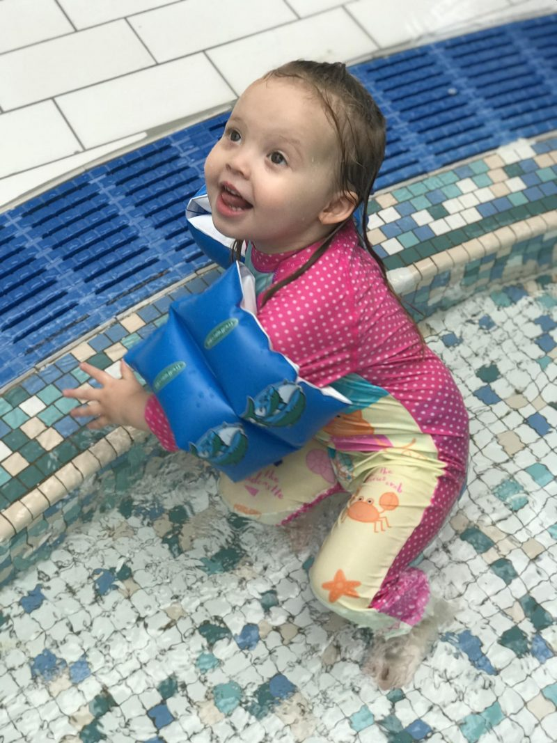 The fresh hell that is swimming part 2 - child in a wetsuit, child swimming, toddler swimming, toddler in pool, child in pool, www.mumsymidwife.com